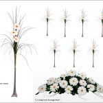 5 Gerbera Table Package (Tall Vases) £290